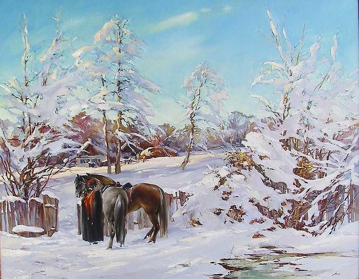 На дворе мороз трескучий
